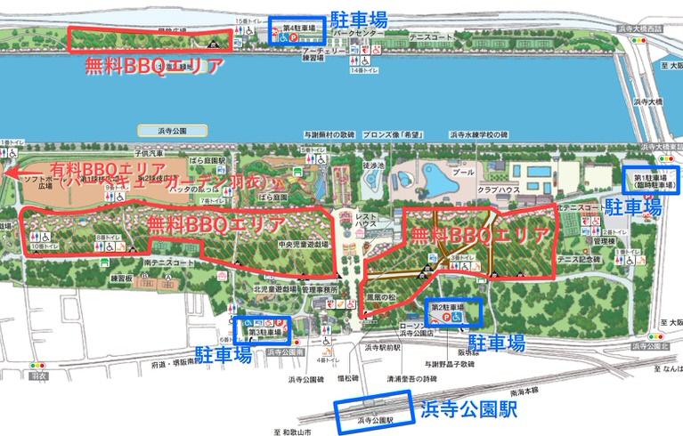 浜寺公園 公園マップ