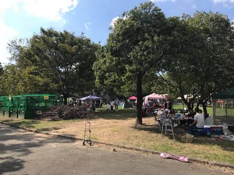 大泉緑地のバーベキュー広場の様子